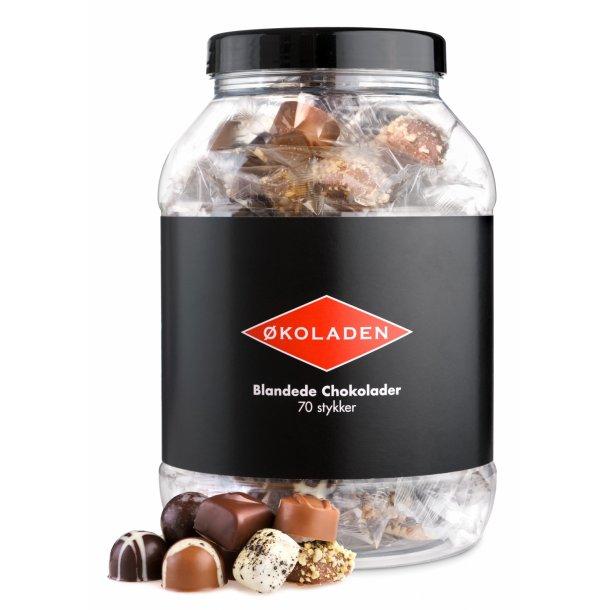 Fyldt økologisk chokolade, 1 stk., 10 g. Fra Økoladen