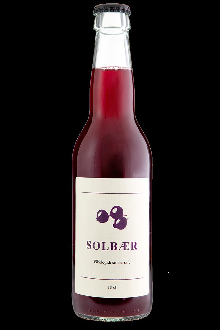 Økologisk Solbær, saft, 1 stk., 33 cl. Fra Møns Bryghus