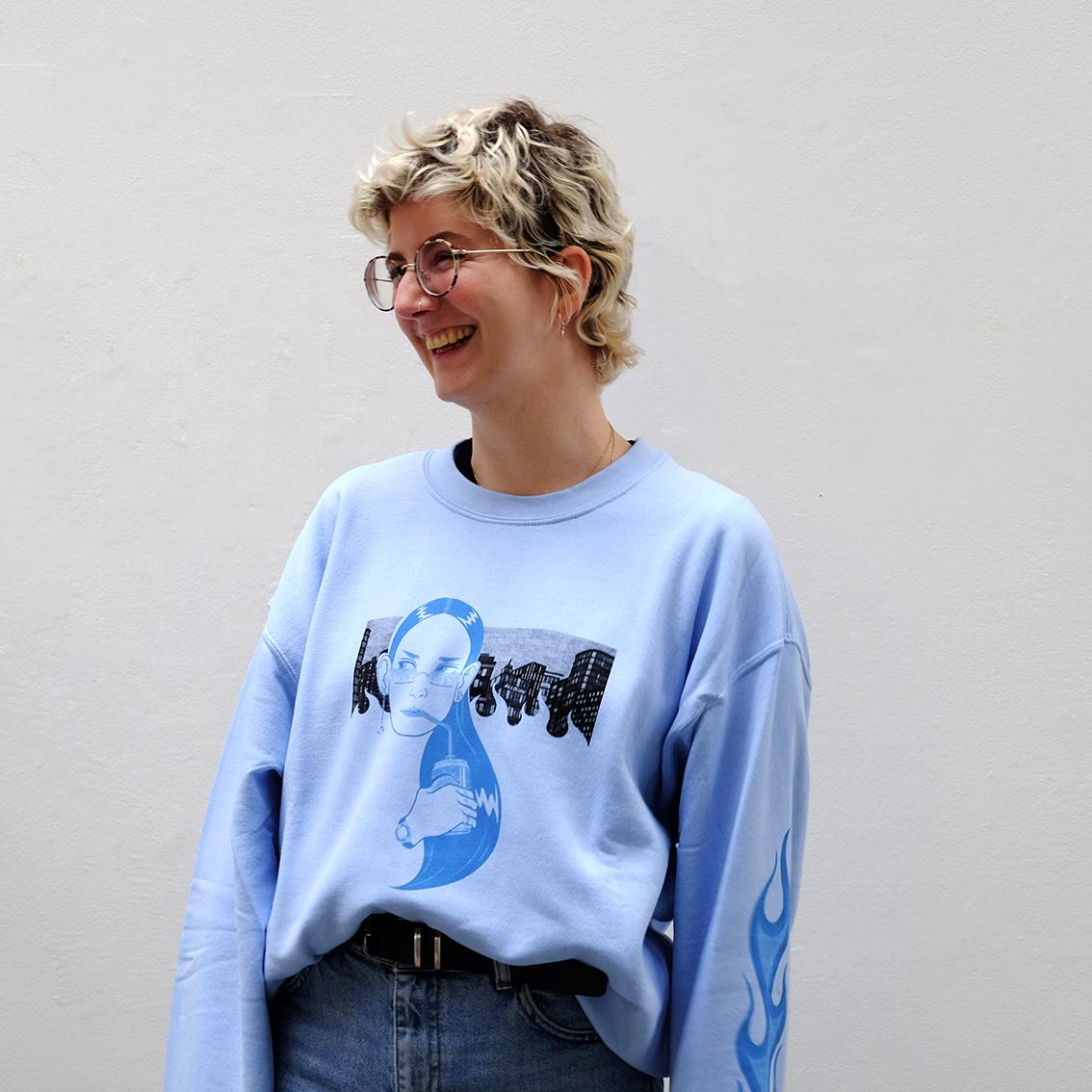 'P' blue sweater – Allolune