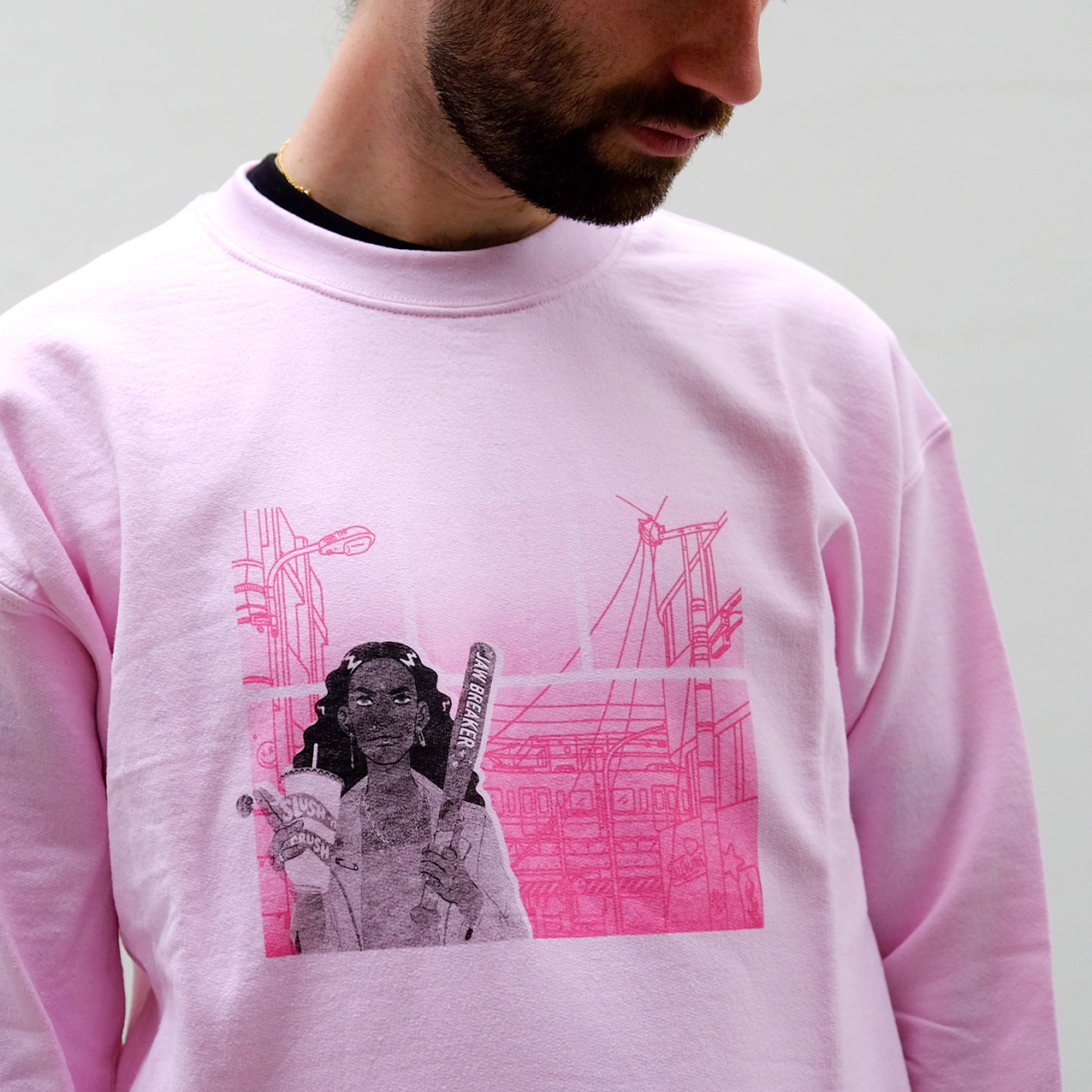'K' Pink Sweater - Allolune