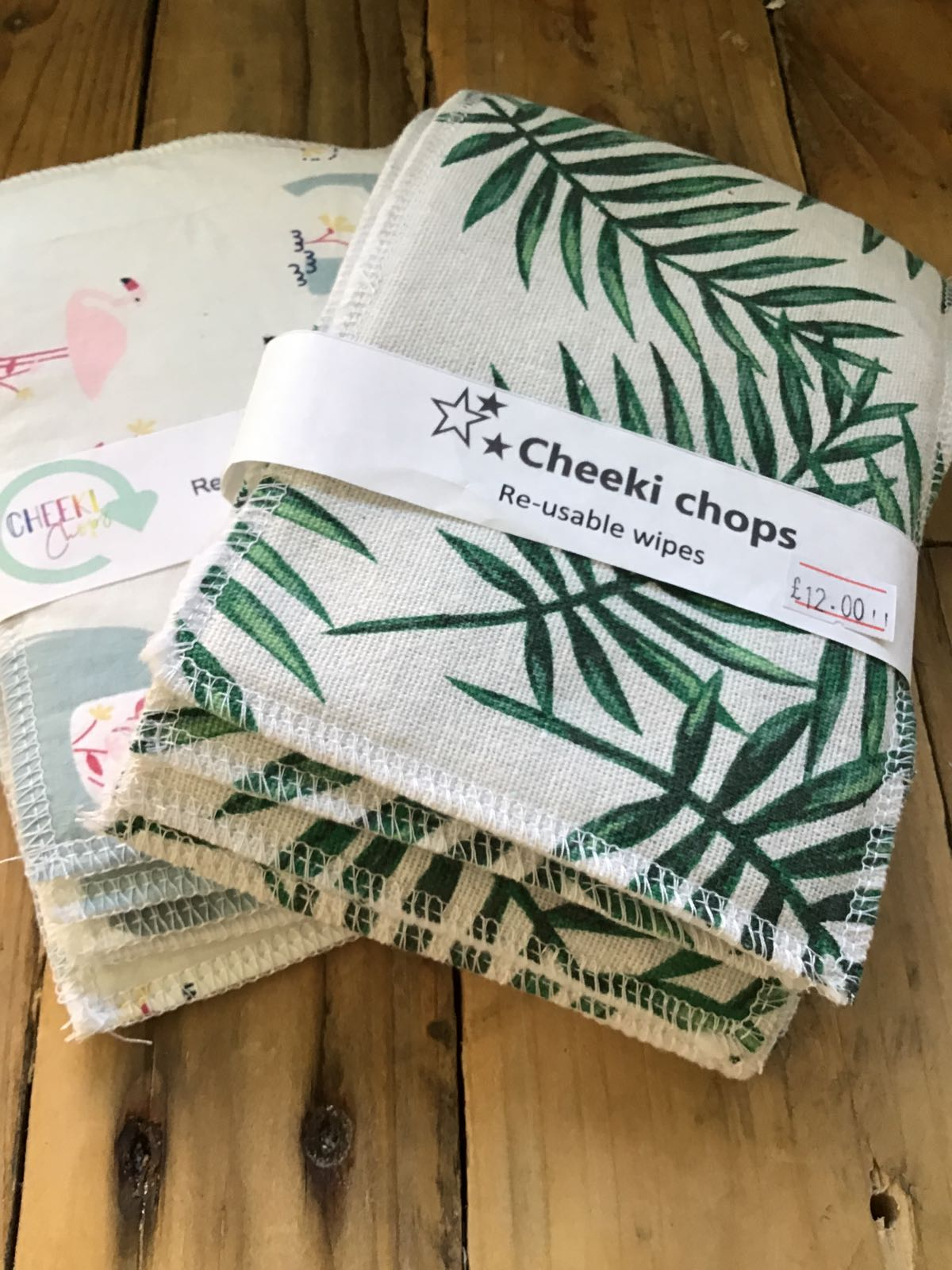 Wipes, washable (5 wipes) by Cheeki Chops