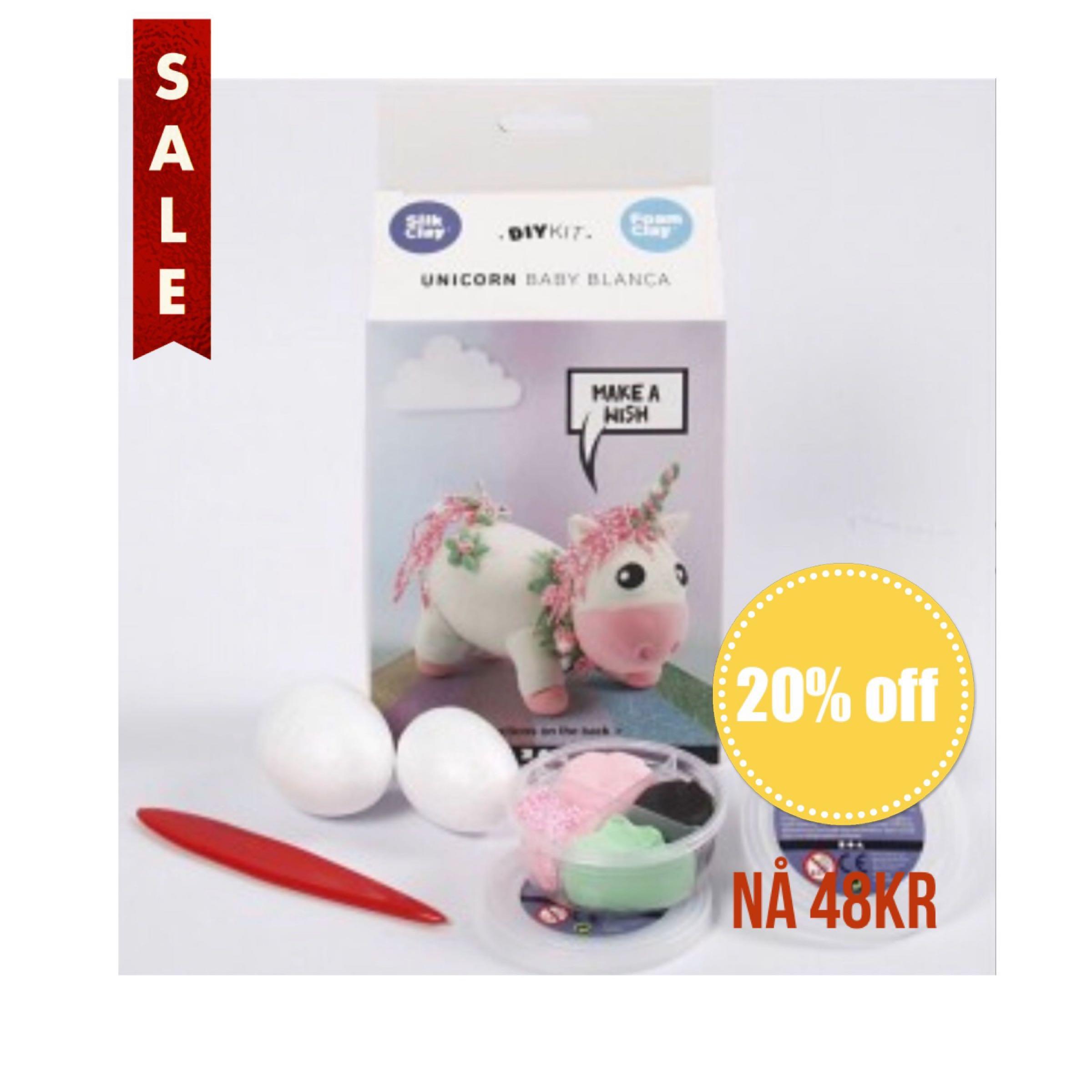 Foam Clay Unicorn Baby Blanca DIY Kit