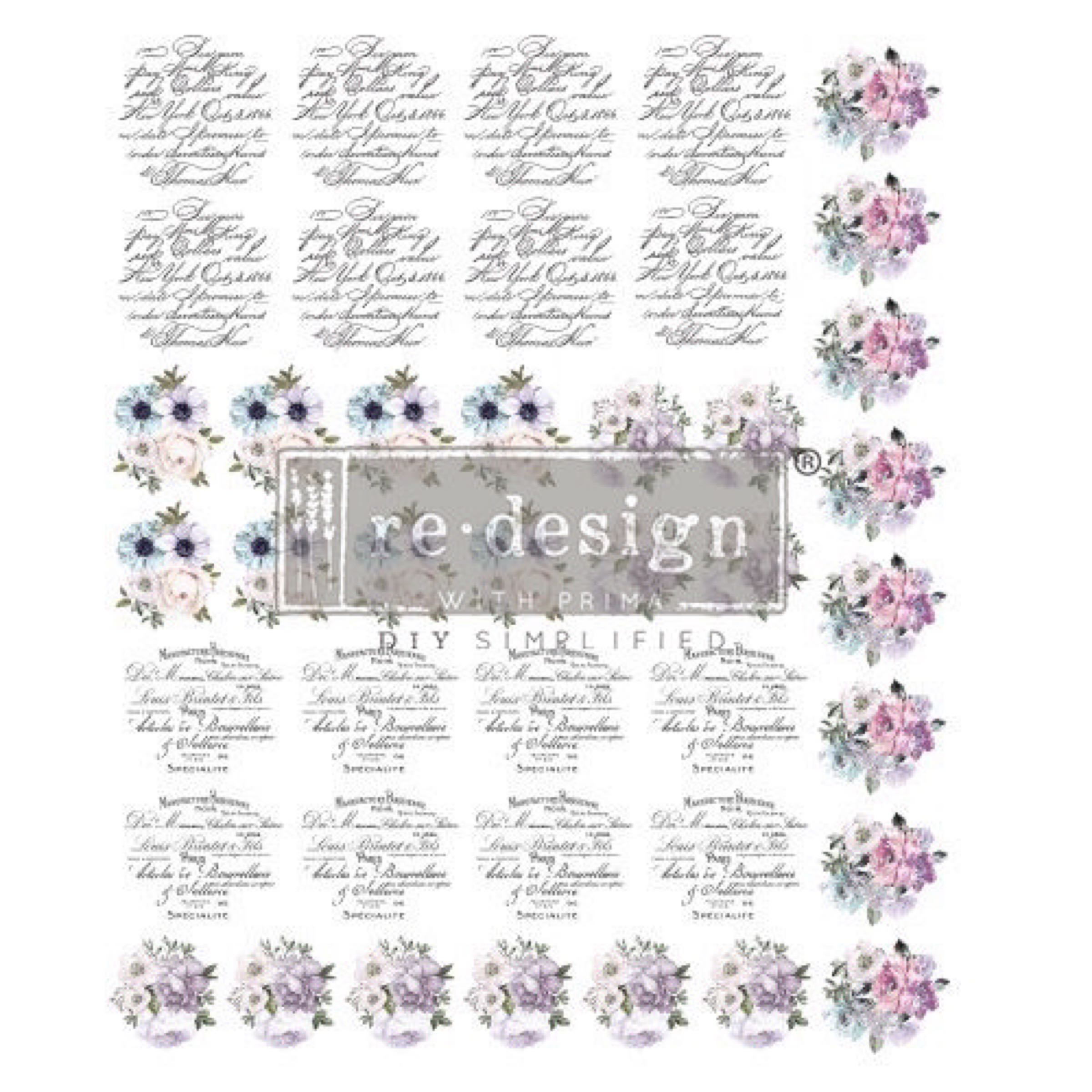 Re-Design with Prima Knob  Transfers - Spring Meadow OUT OF STOCK