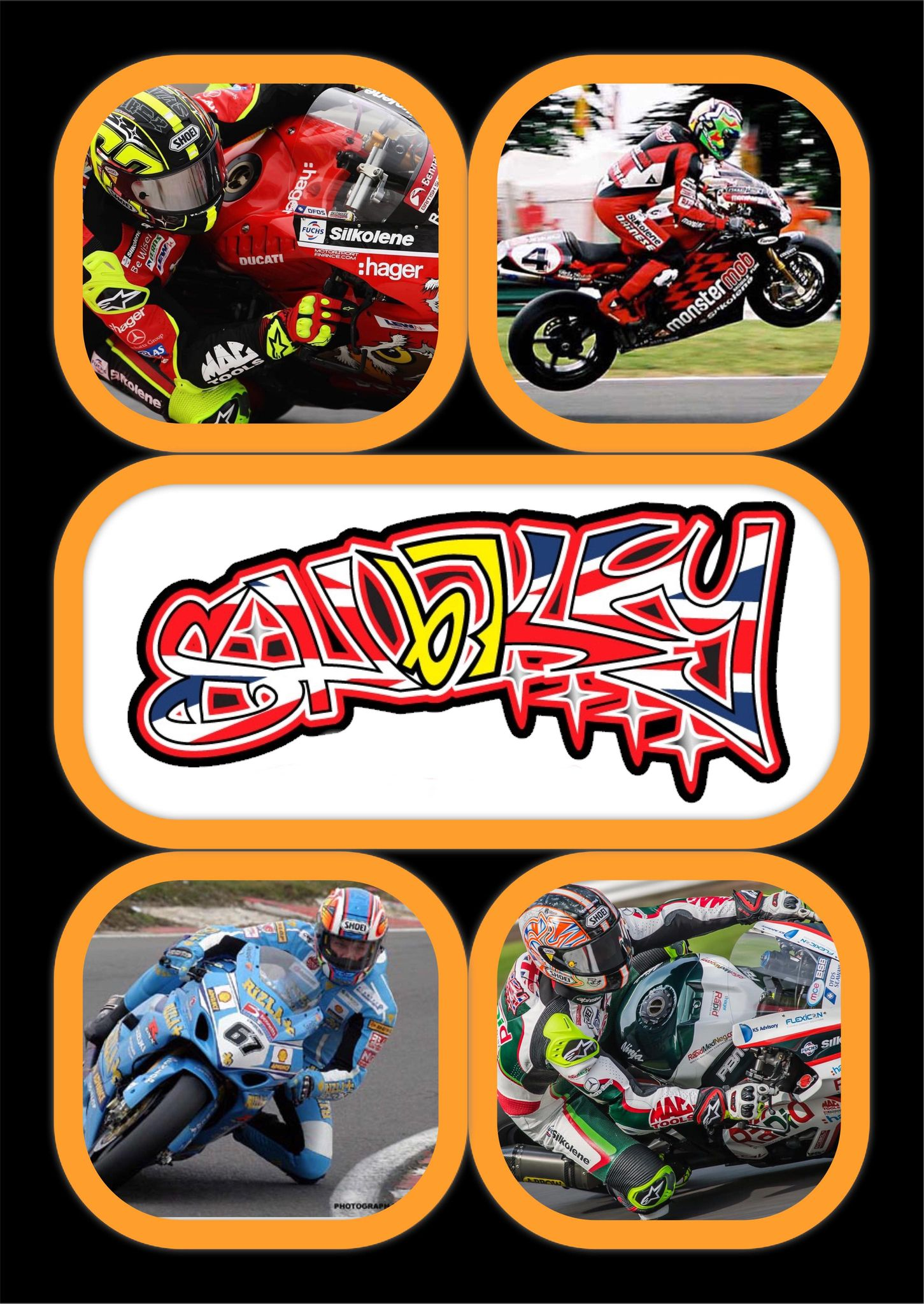 r. Motorcycle Racer Prints In A4 Frames