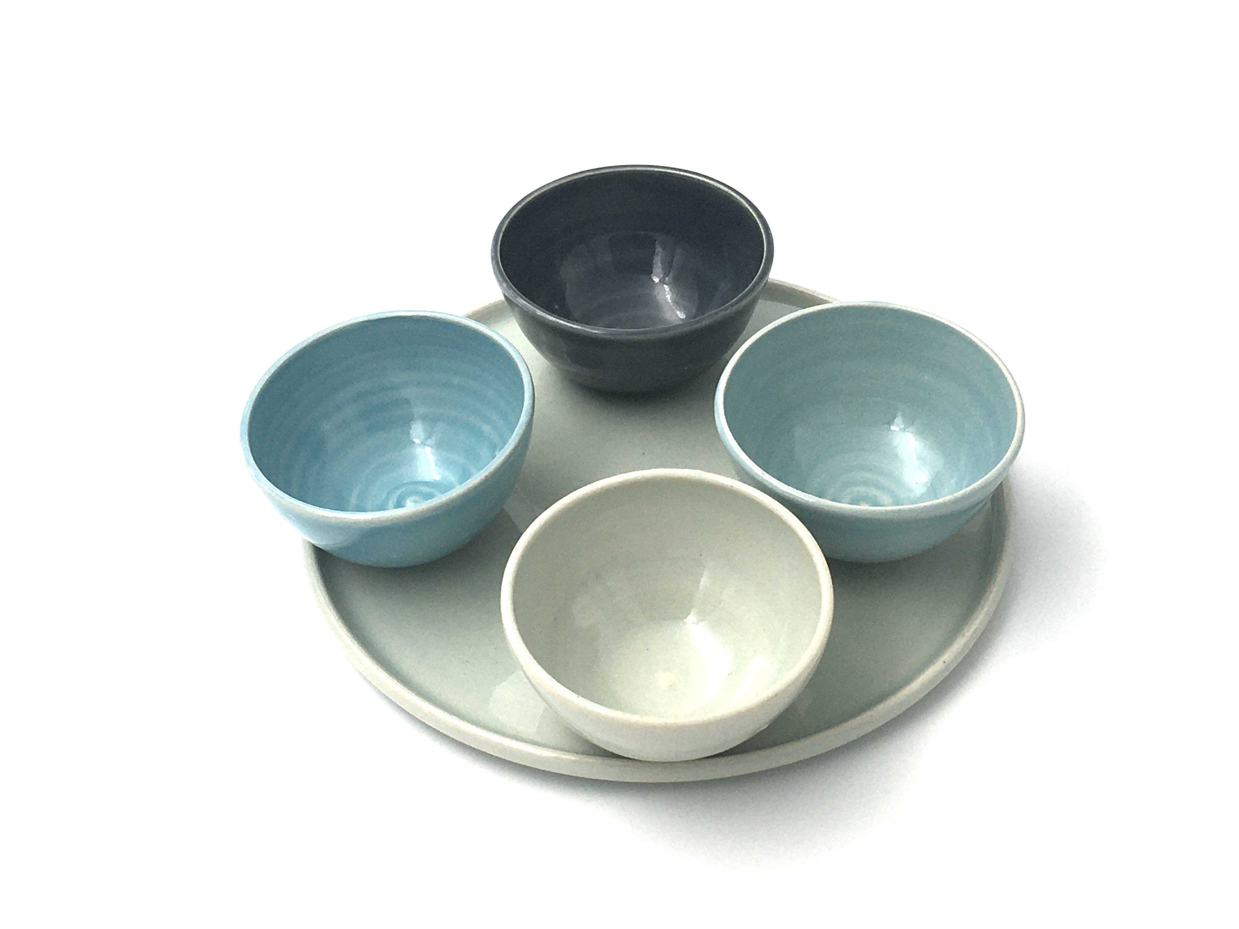 set of bowls and plate