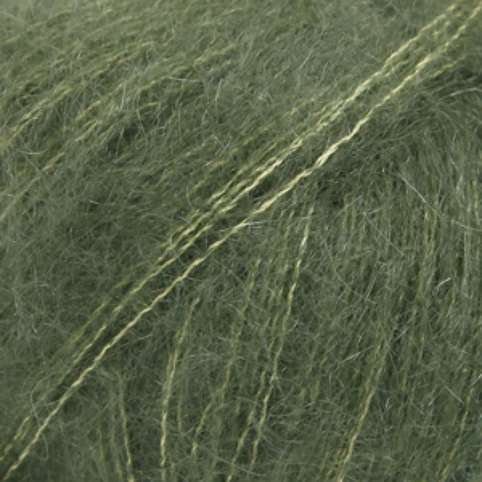 Drops Kid-Silk, uni colour 19 mørk grønn