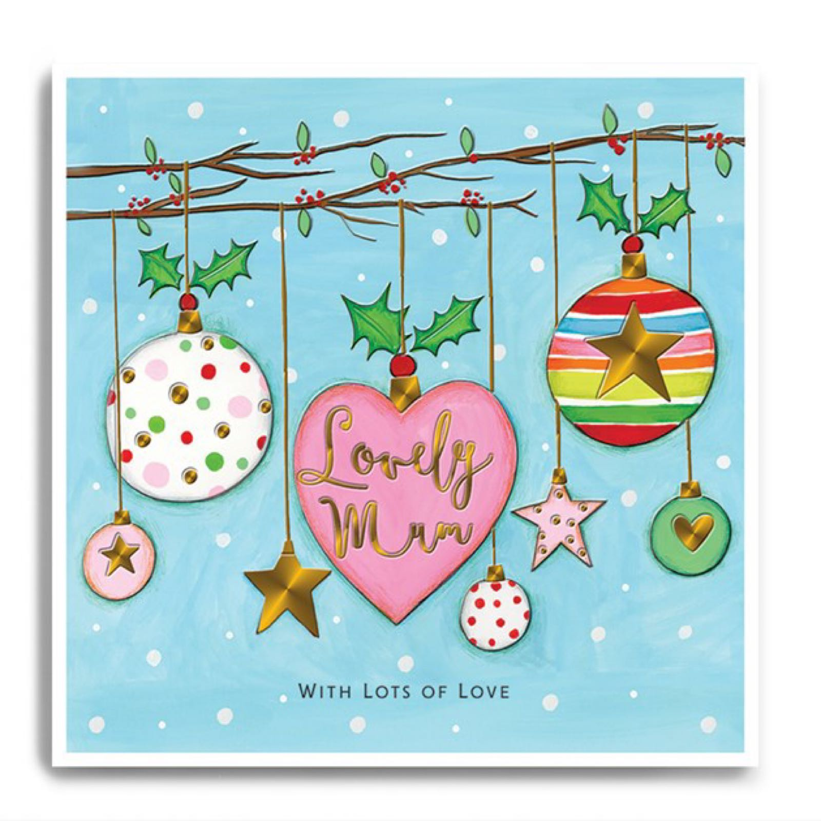 Janie Wilson Lovely Mum Christmas Card