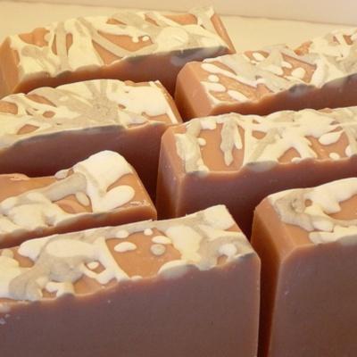 Handmade vintage rose soap