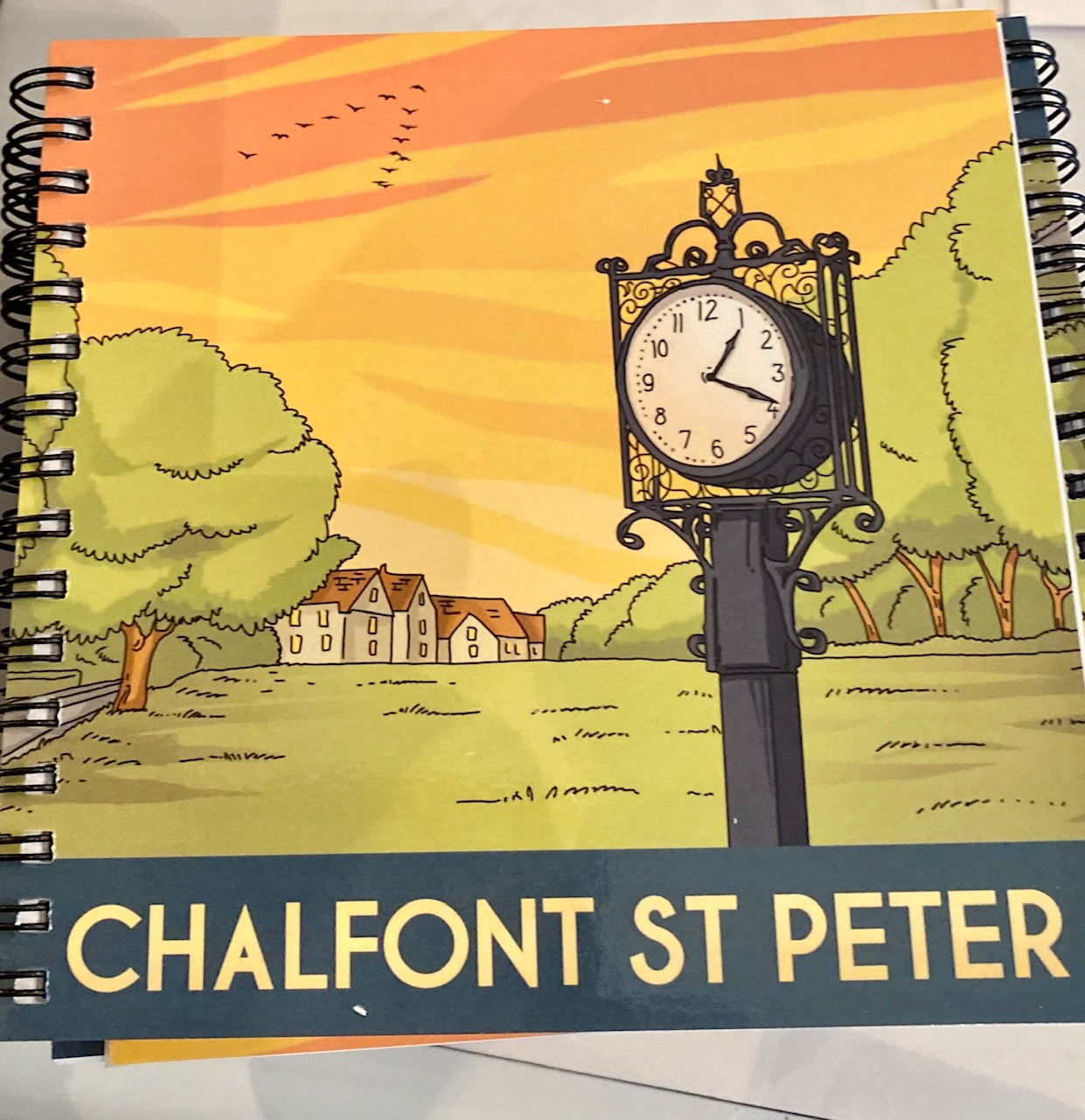 Chalfont St Peter vintage art square note book