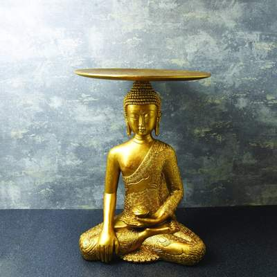 Gold Resin Buddha table