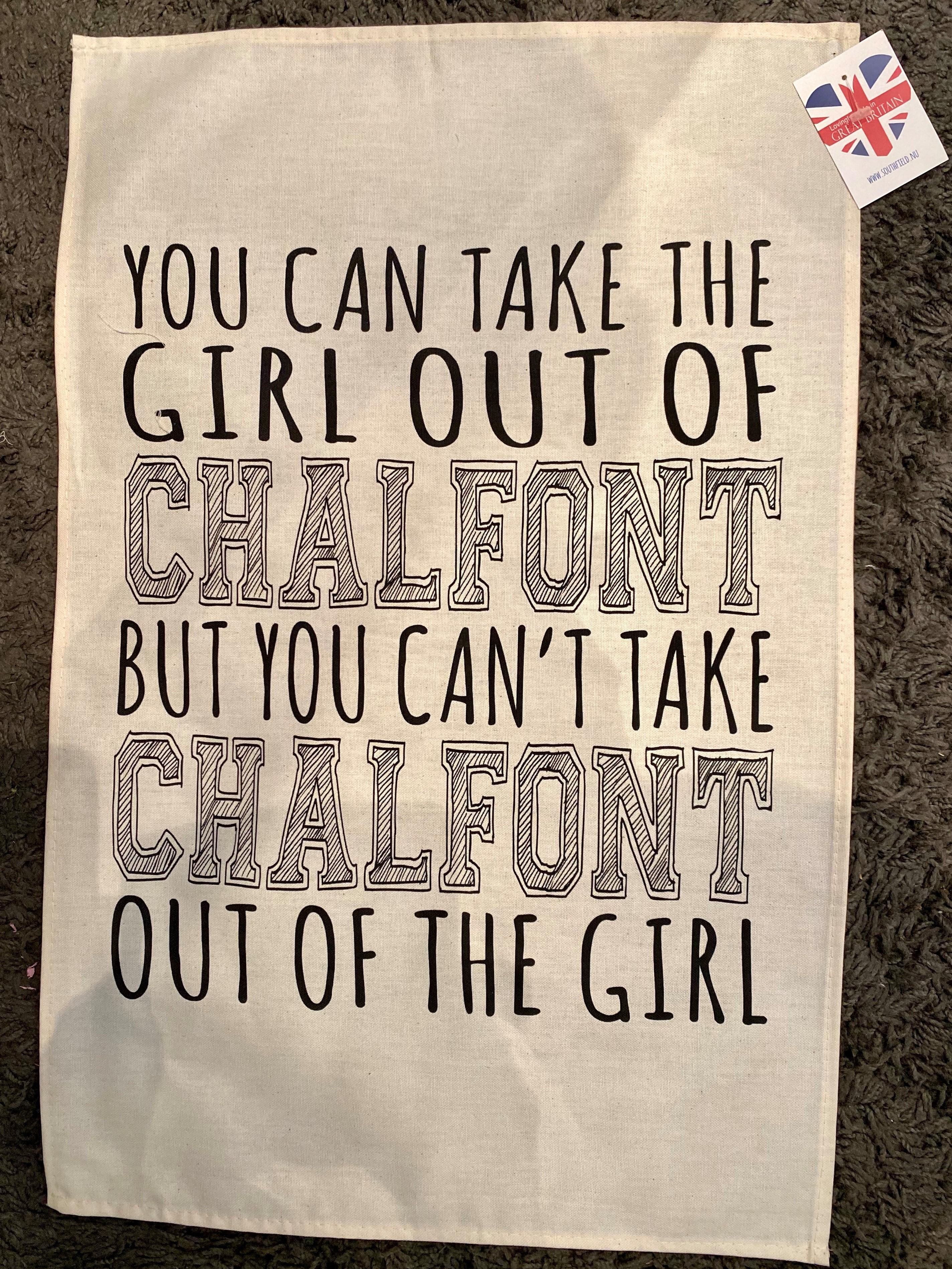 Chalfont tea towel