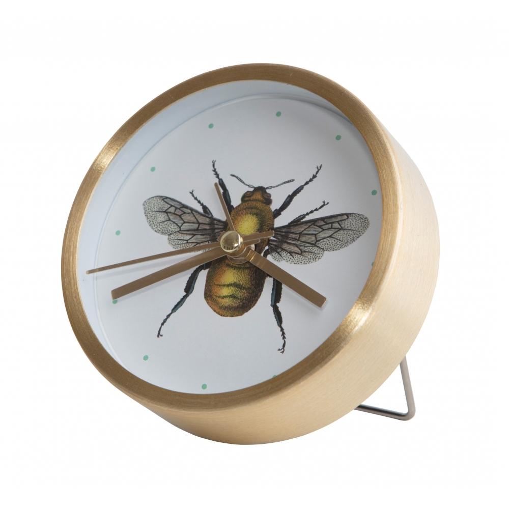 Vintage bee illustration desk clock