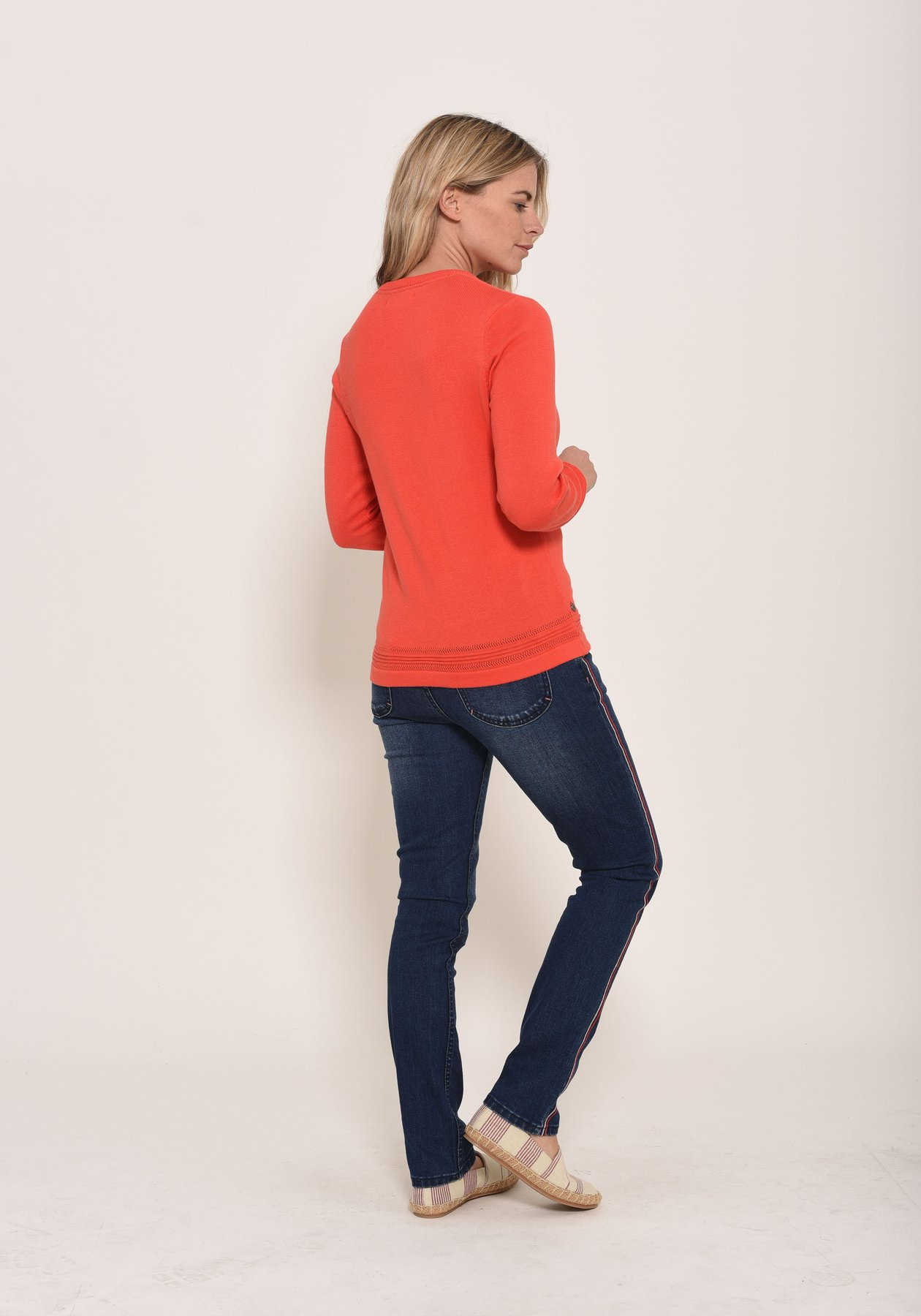 Slim fit jean with side stripe detail