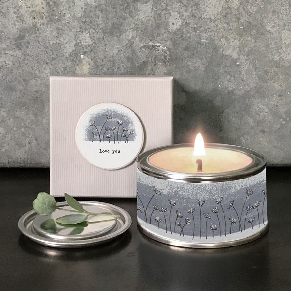 Boxed scented 'Love you' candle