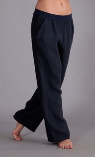 Stretch waist linen trousers
