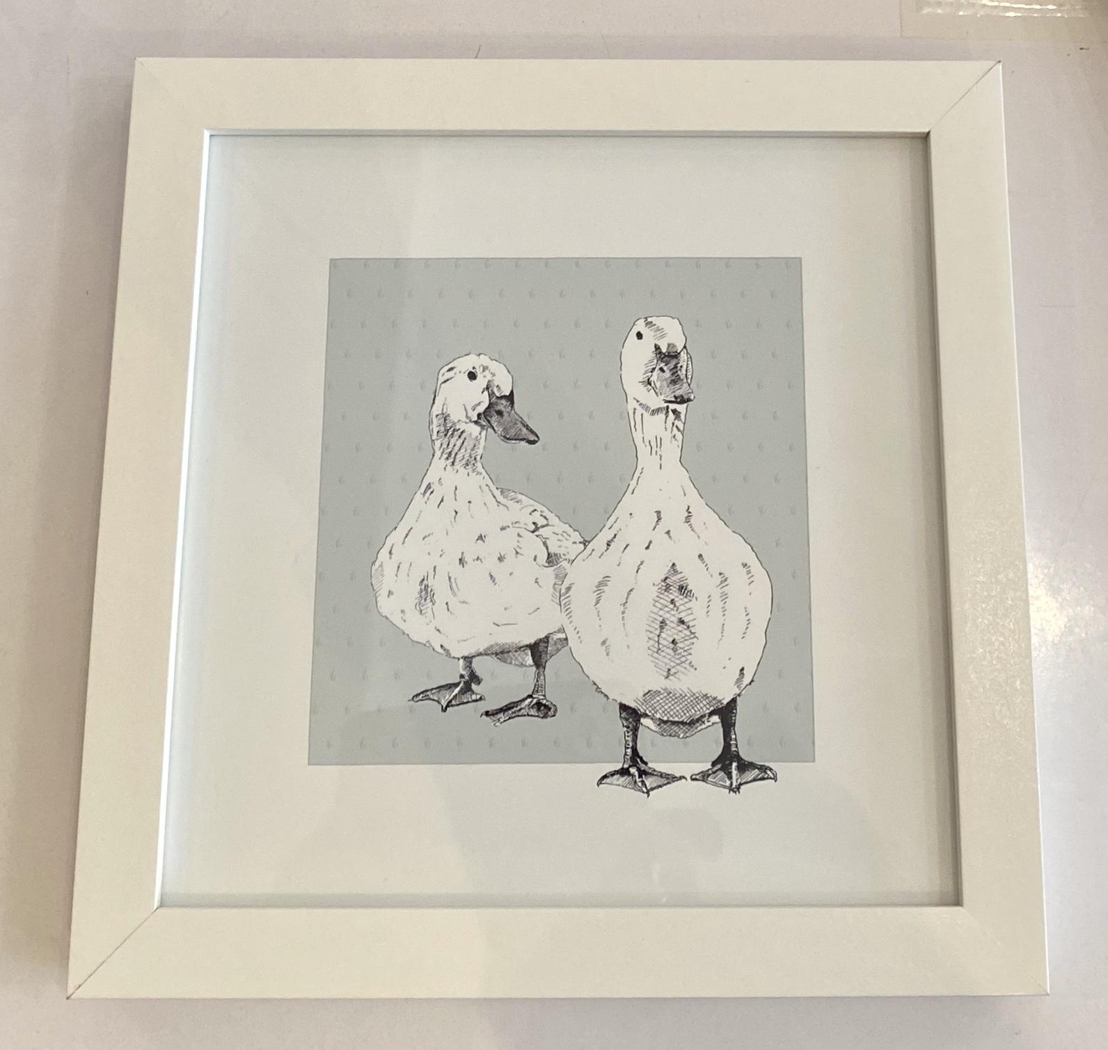 Framed duck print