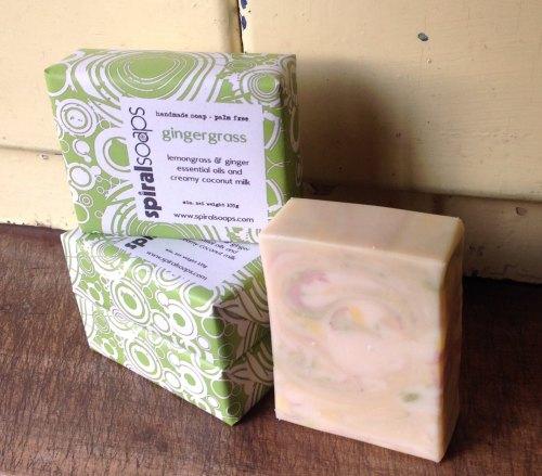 Handmade gingergrass soap - no palm oil