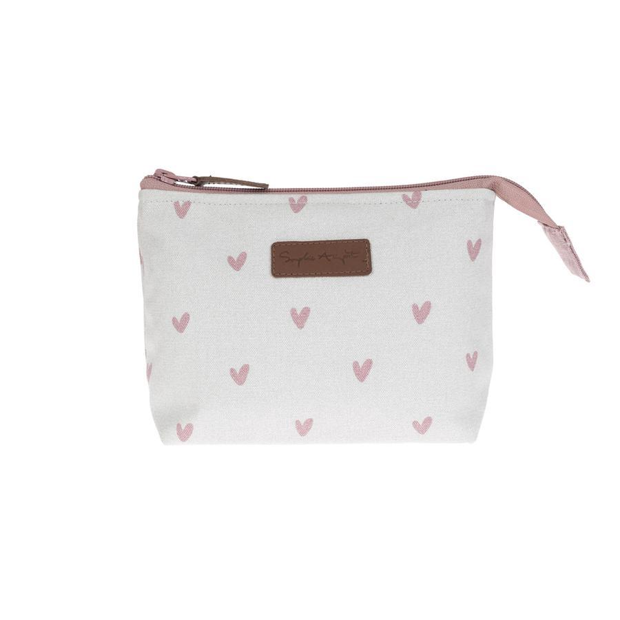 Sophie Allport Hearts canvas make up bag