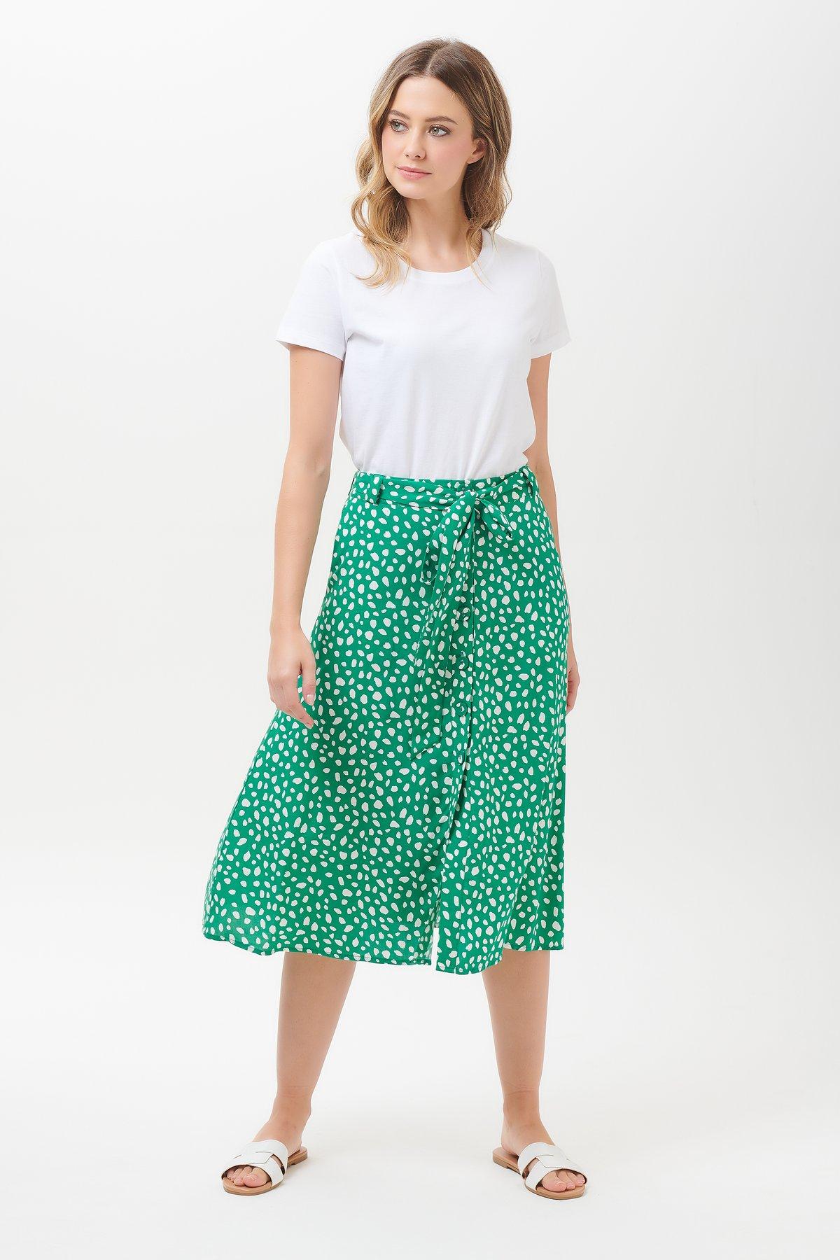 Sugarhill Rosanna spot midi skirt