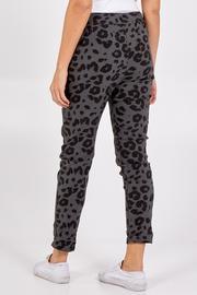 Leopard print stretch magic trousers