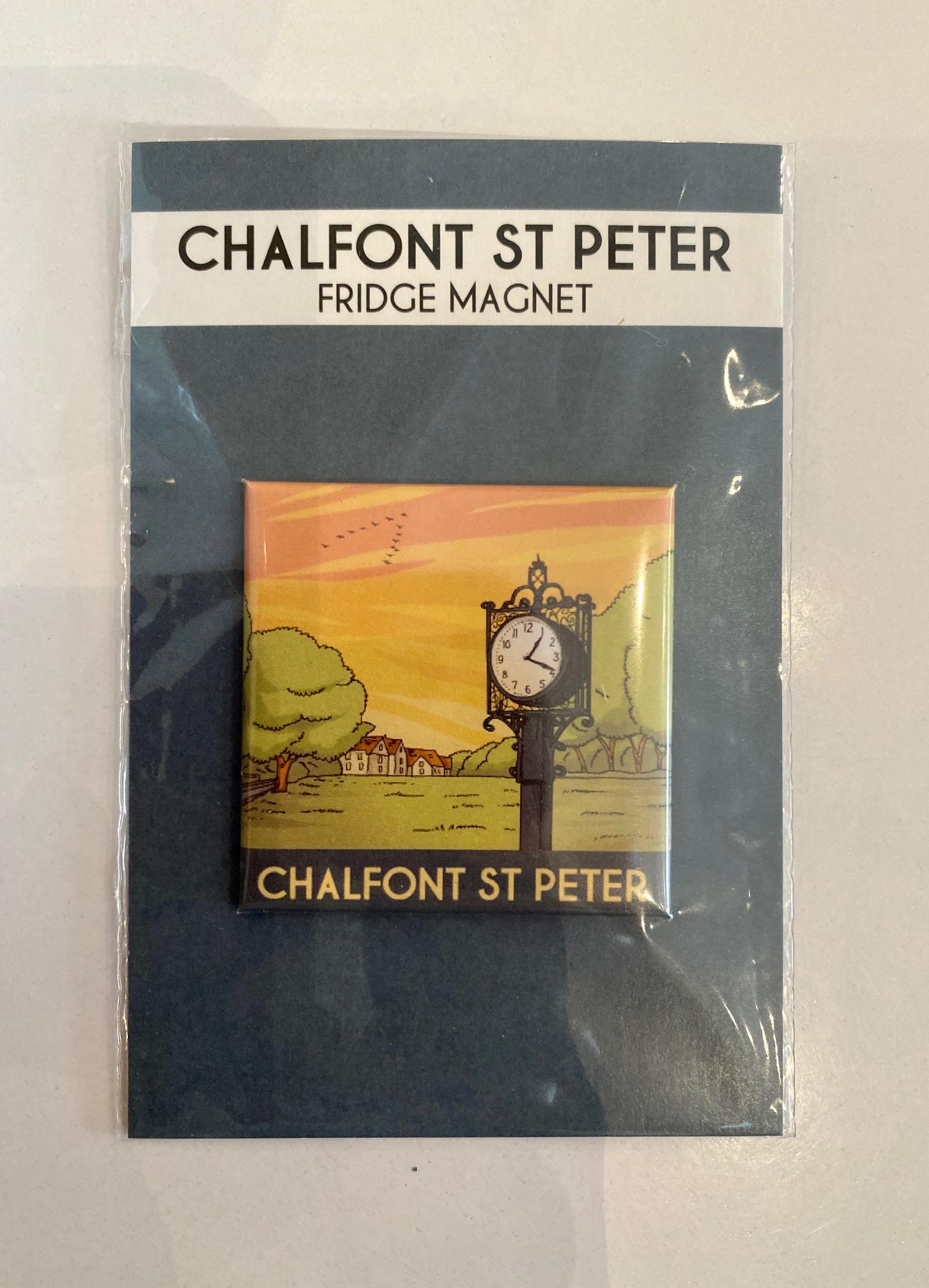 Chalfont St Peter colour fridge magnet