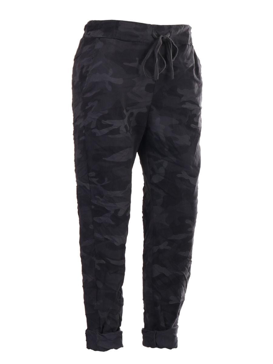 Camo print magic trousers