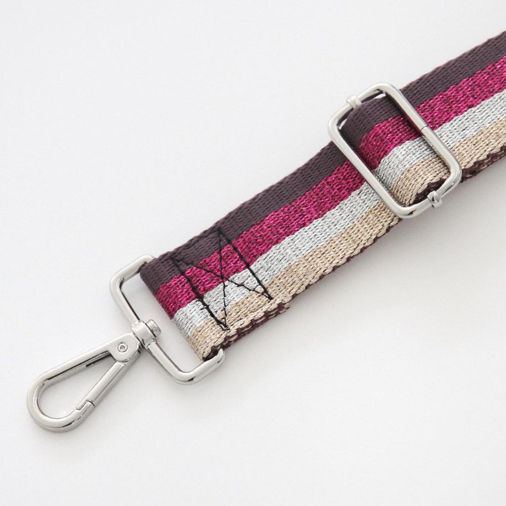 Detachable webbing bag strap