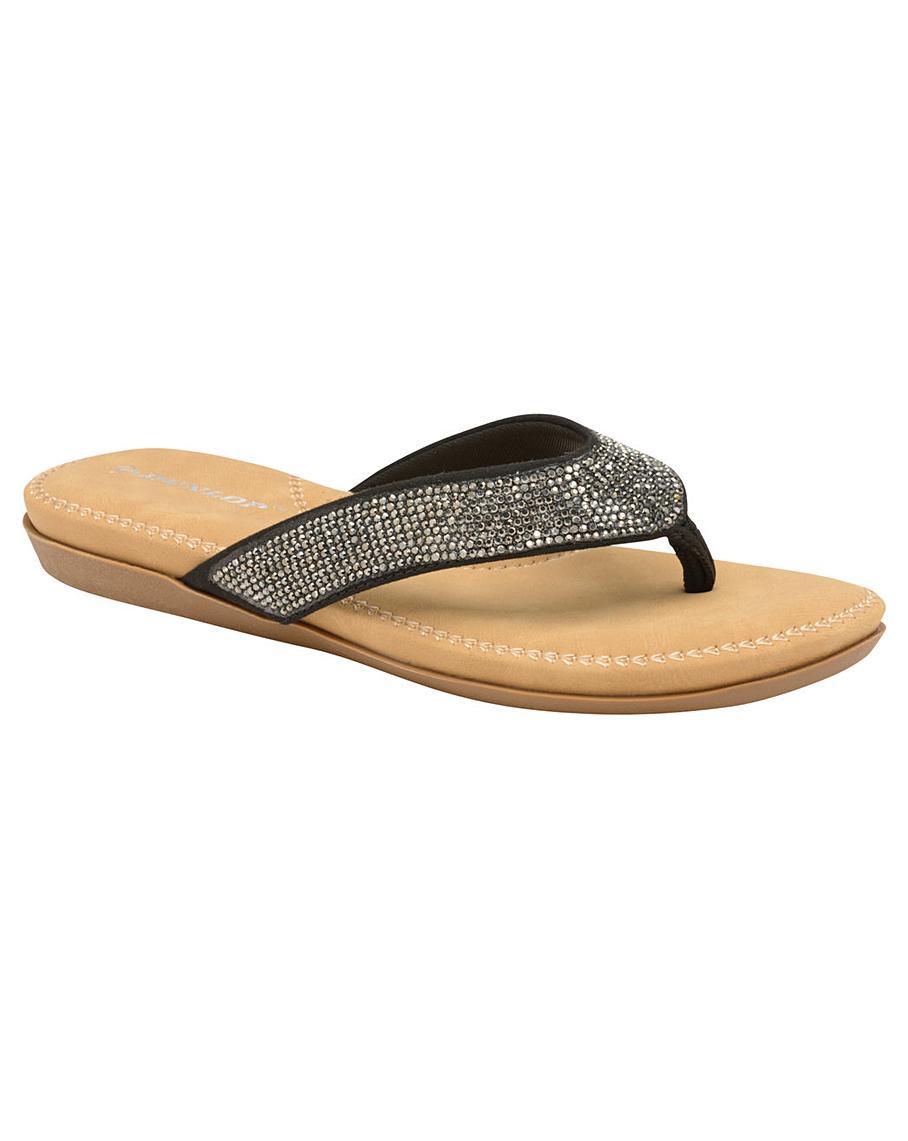 Dunlop Eryn sparkly flip flop