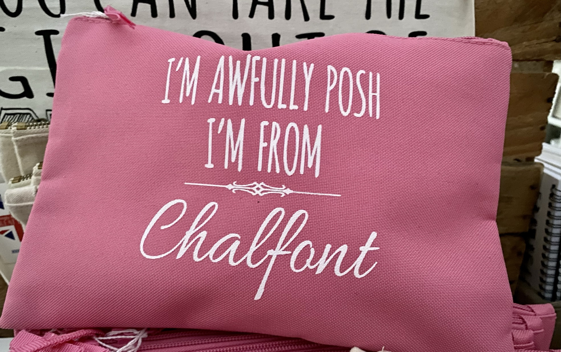 Pink Chalfont Pouch