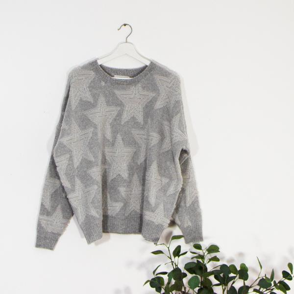 Luxury soft wool mix star jumper