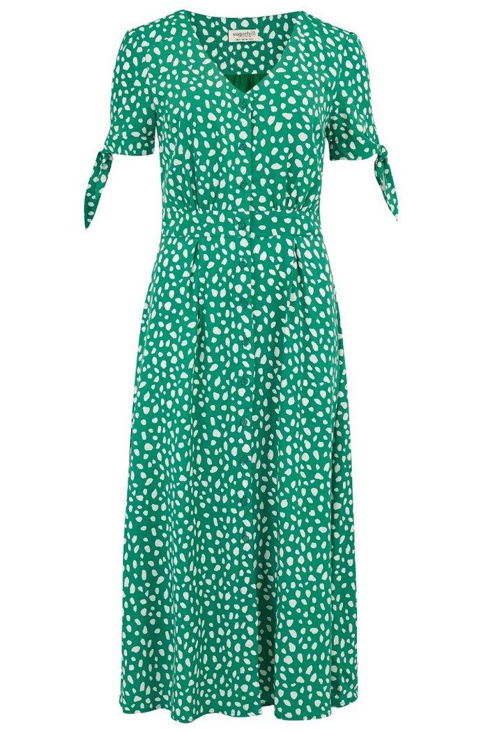 Sugarhill spot midi dress