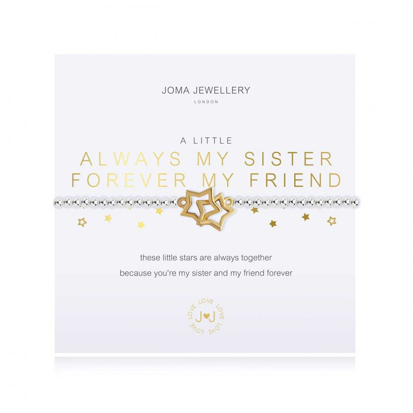 Joma Jewellery sister sentiment bracelet