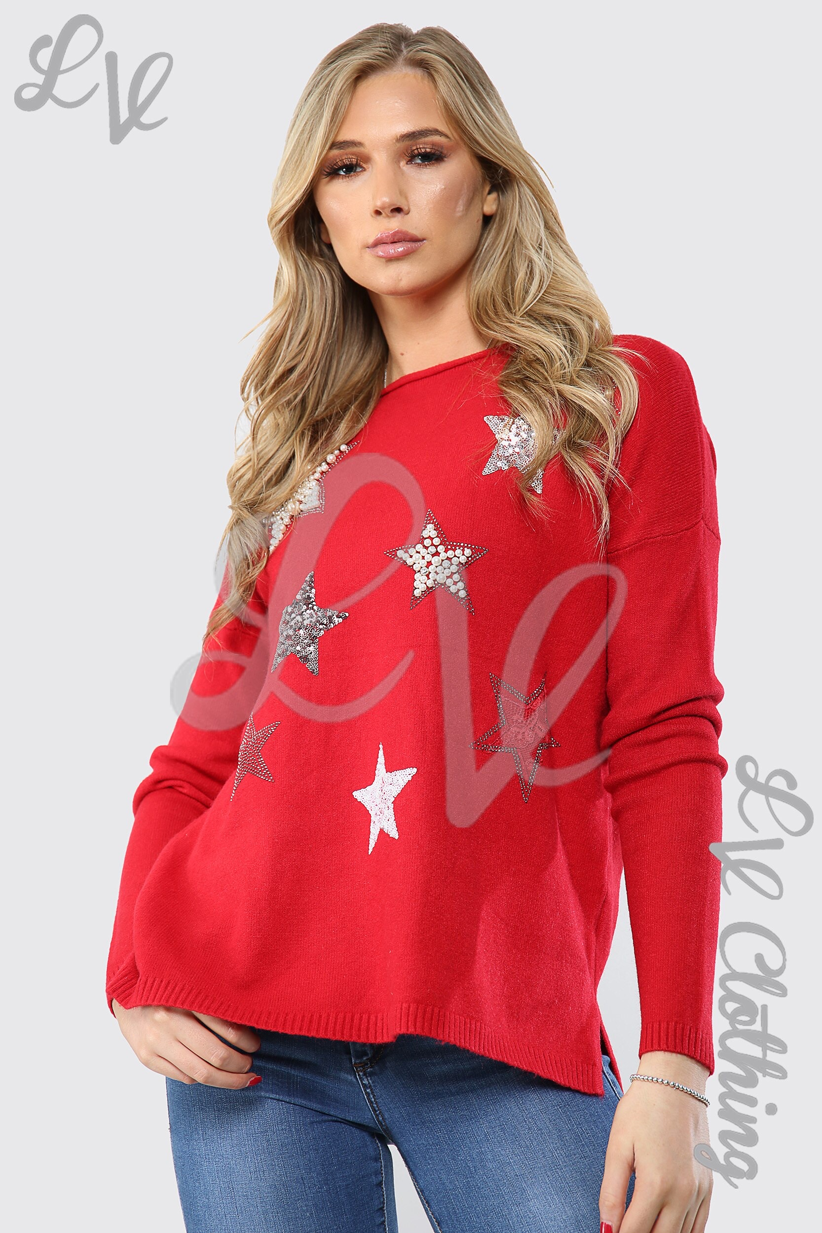 Sequin Star Detail Jumper