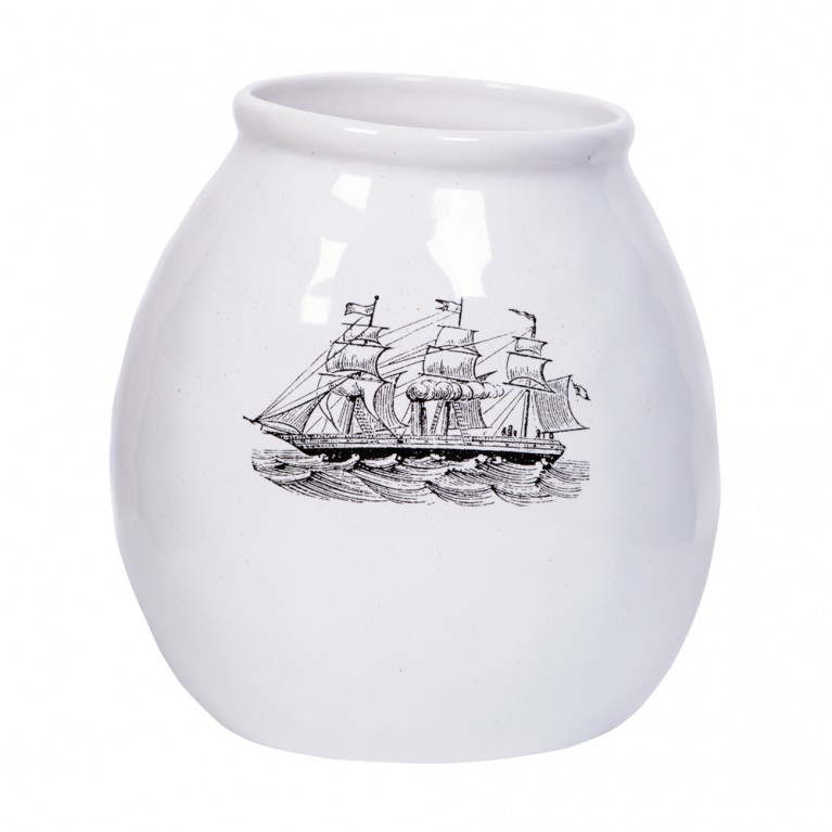 Stoneware Ship vase