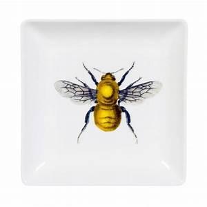 Vintage bee illustration trinket tray