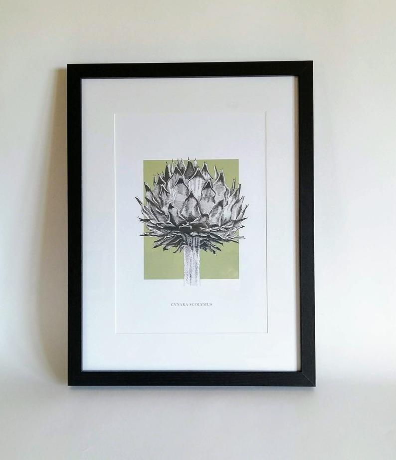 Framed artichoke print