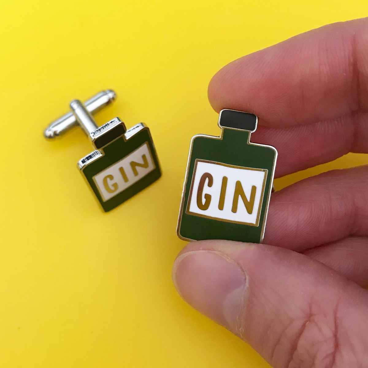 Gin cufflinks