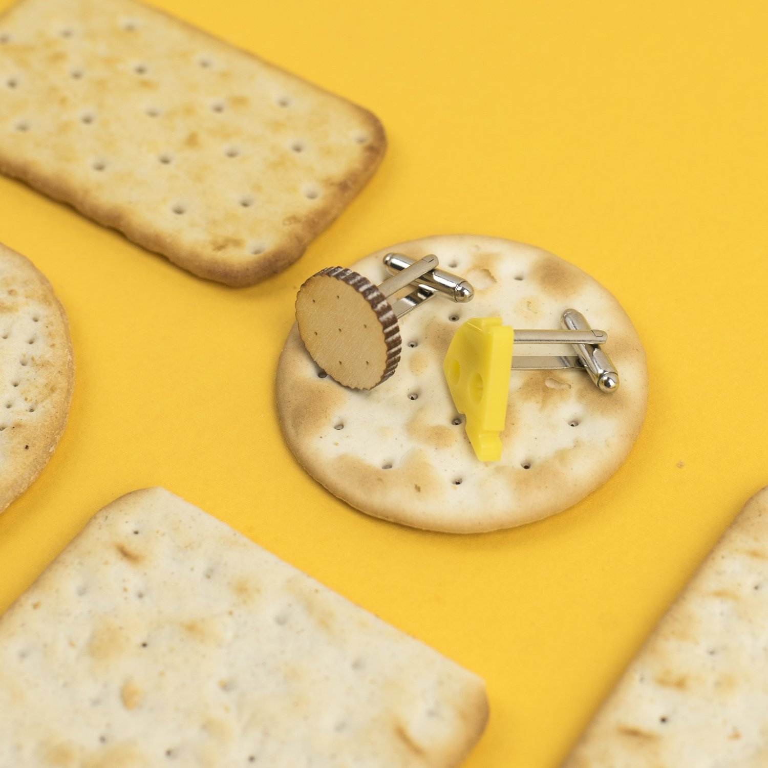 cheese & biscuit cufflinks