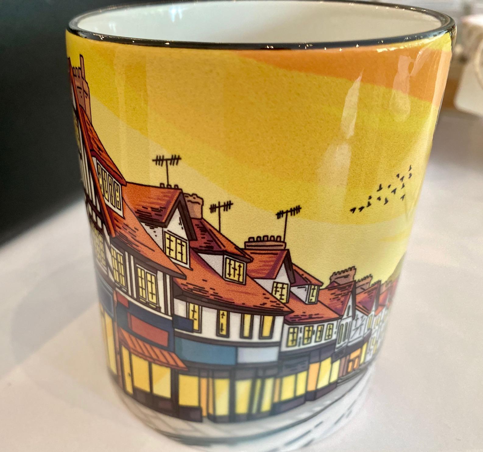 Chalfont St Peter vintage art mug