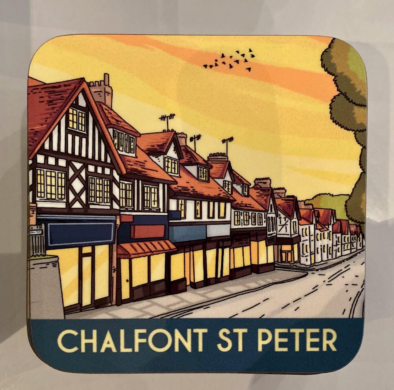 Chalfont St Peter vintage art coaster