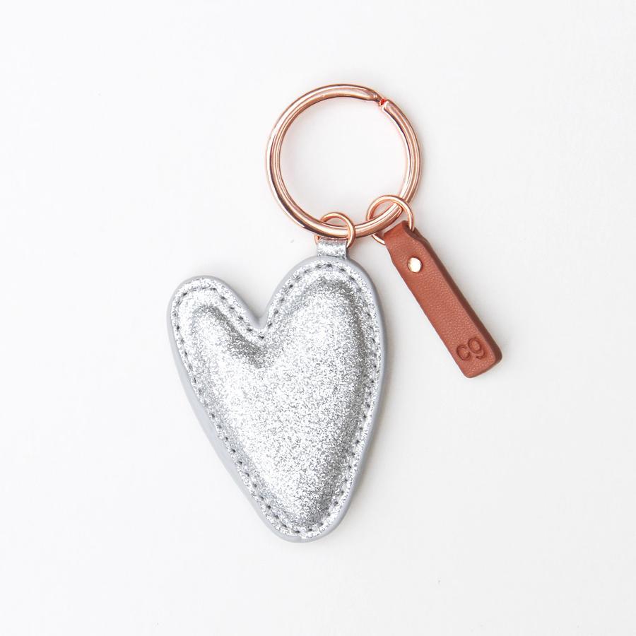 Caroline Gardner silver glitter keyring