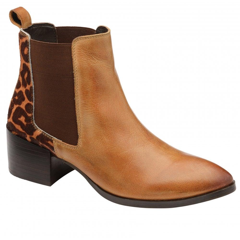 Ravel Saxman leopard detail ankle boot