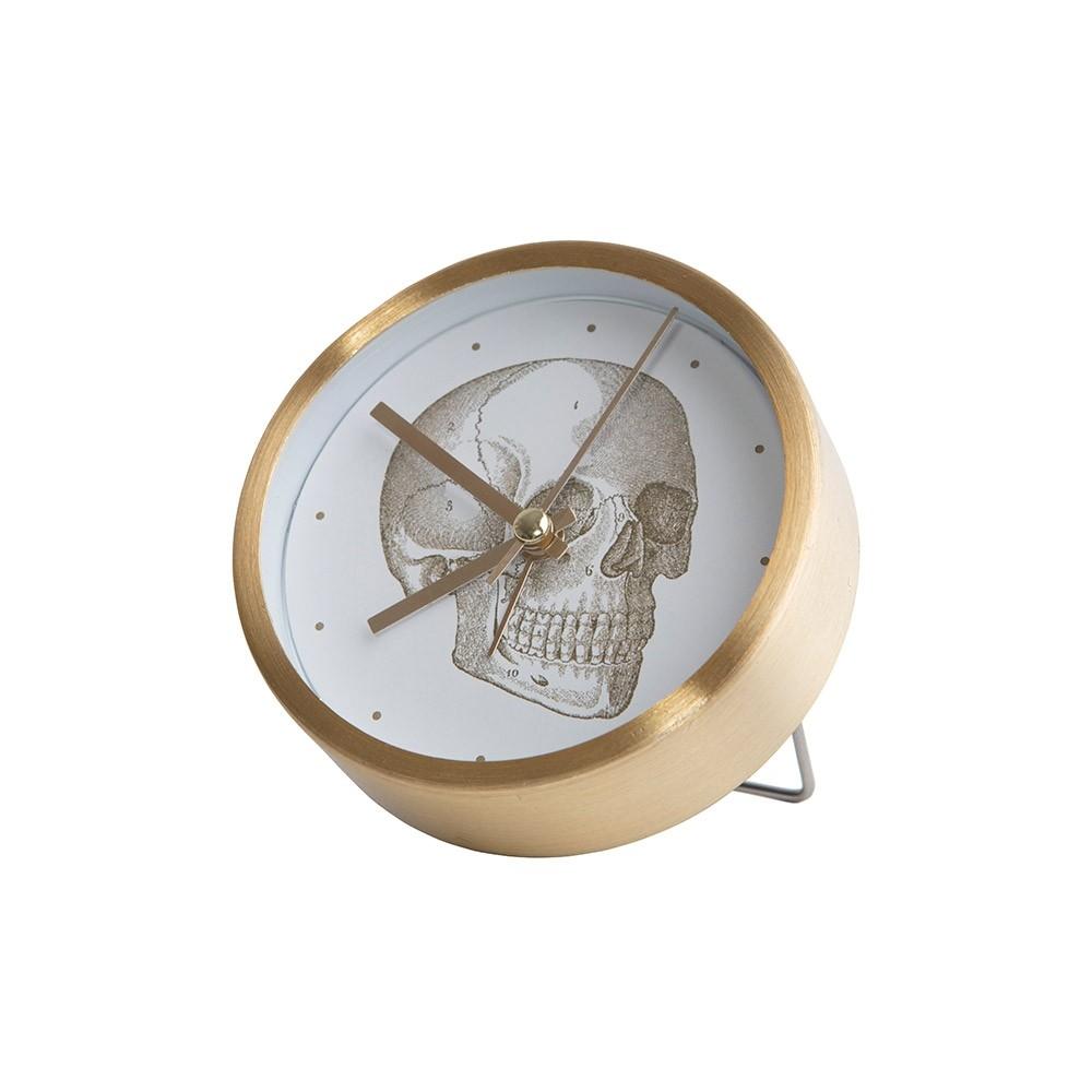 Skull desk clock
