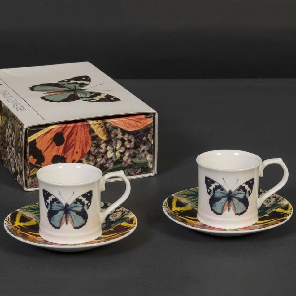 Butterfly Espresso set for 2