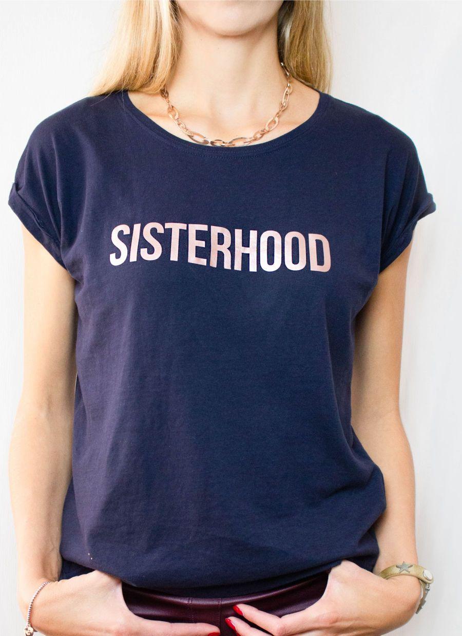 Sisterhood slogan t shirt