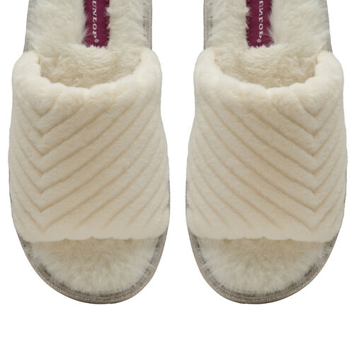 Dunlop Phoebe faux fur slider slipper