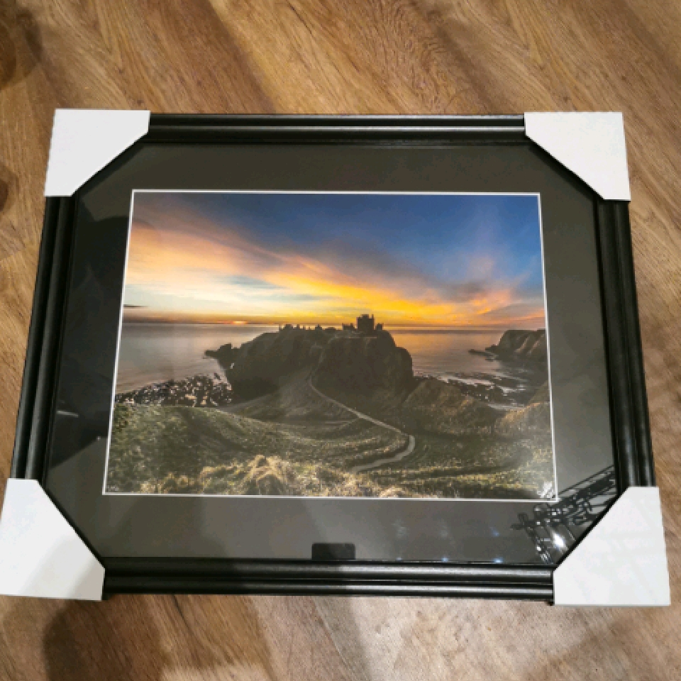 Dunnottar Sunrise, A3, 12/25, Black