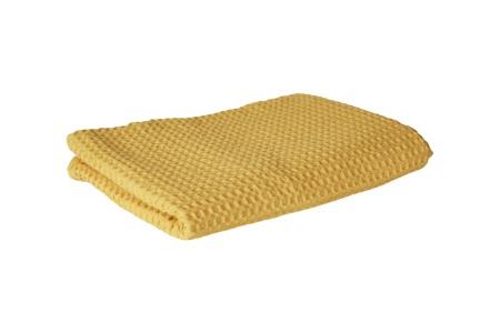 Plaid m/ vaffelmønster (gul)