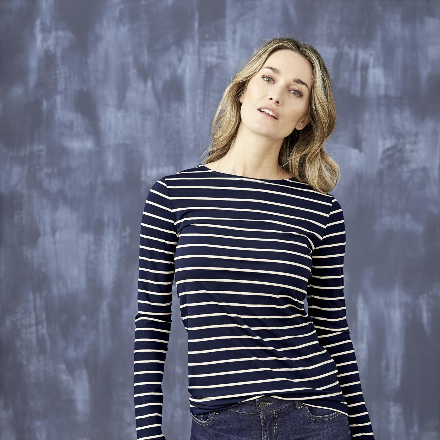 HILLARY Long Sleeve Stripe