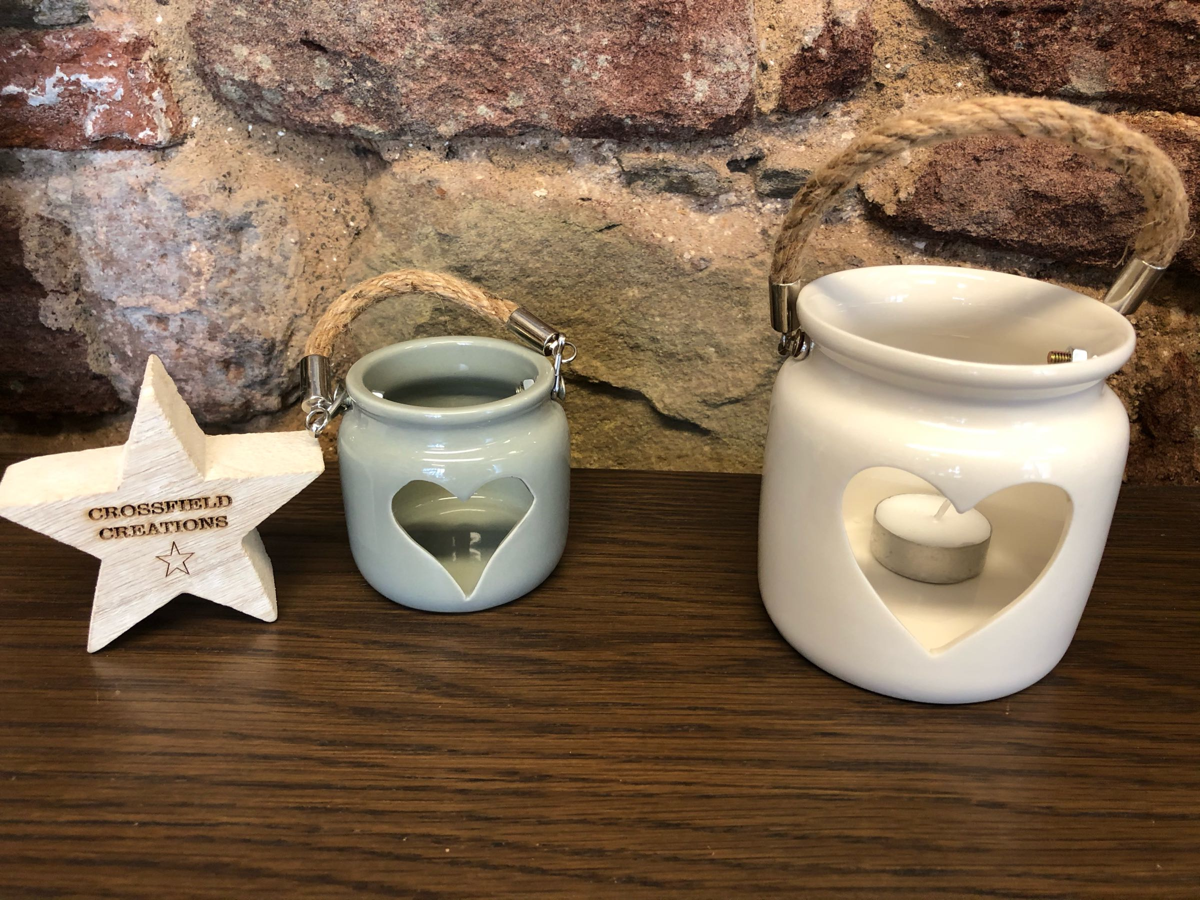Ceramic tealight holders